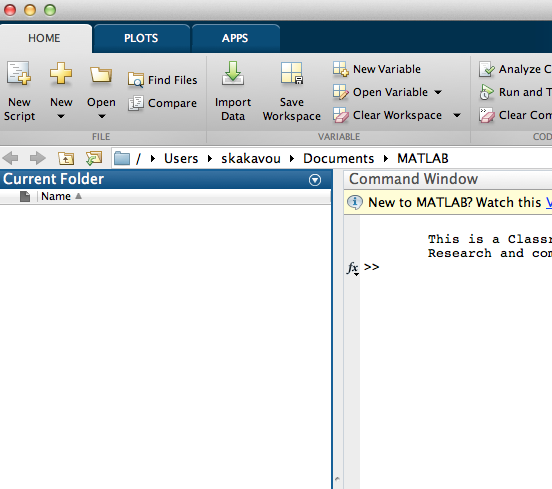 how to set default directory in matlab
