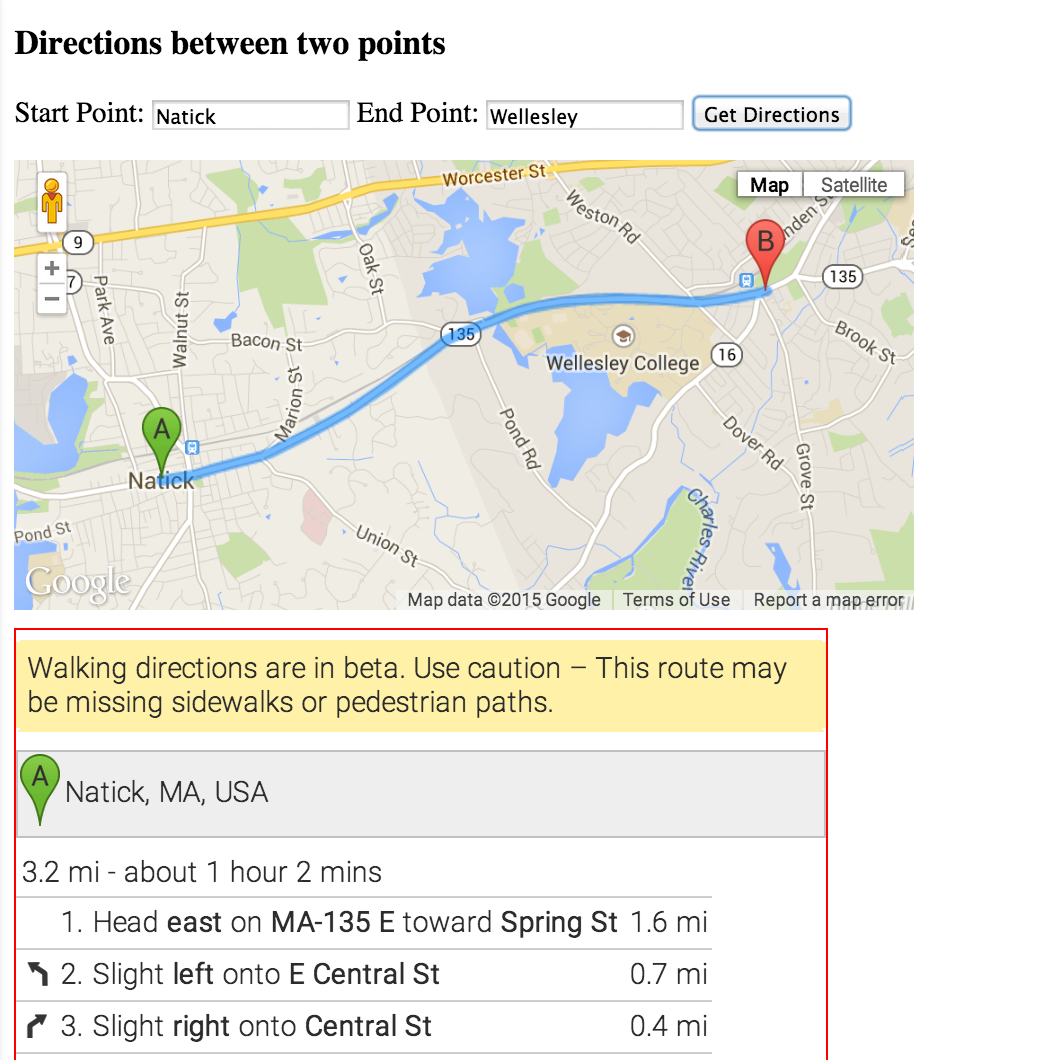 CS249 | Google Maps API