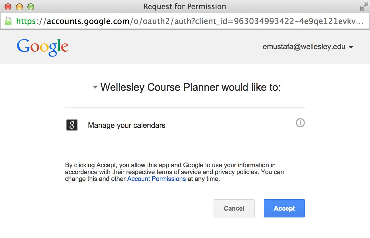 CS249 | Google Calendar API