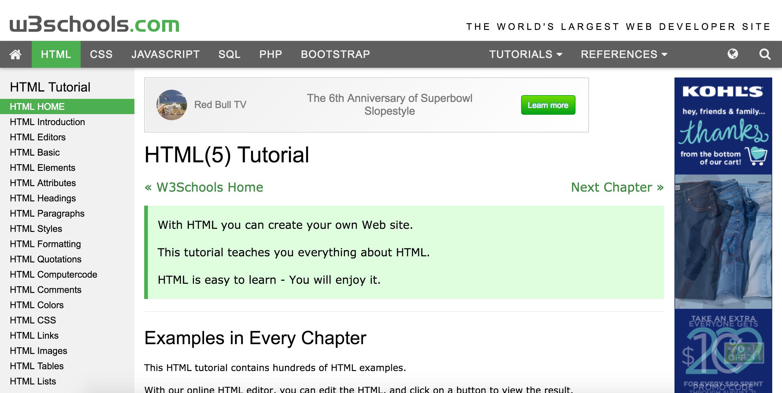 WEEKS 3-4 HTML